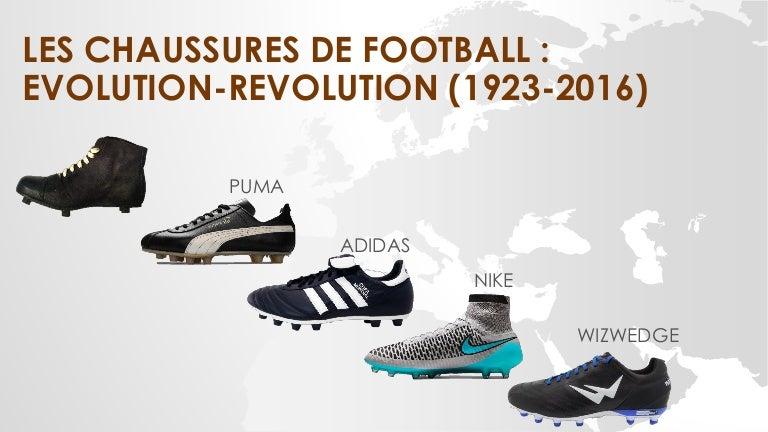 Evolution des chaussures de football (1923-2016) 9e62ce6645d4