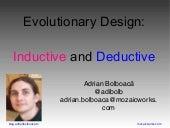 Evolutionary Design: Inductive and Deductive (Paris, oct 2017)