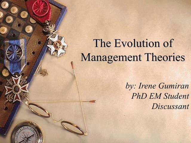 Evolution of management theories