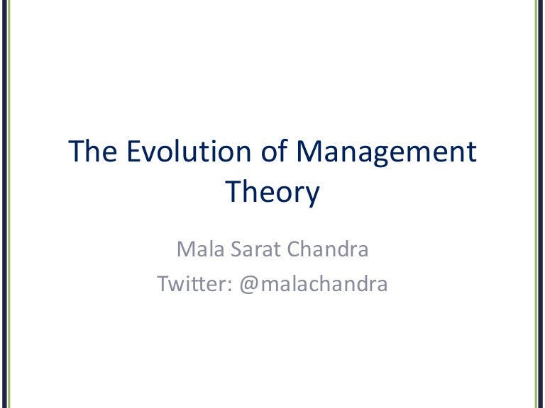 Essay about evolution of management