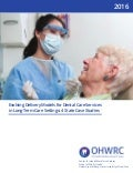 Evolving delivery models for dental care services in long term care setting 4 state case studies