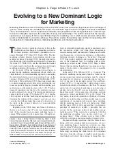 Evolving to a new dominant logic for marketing