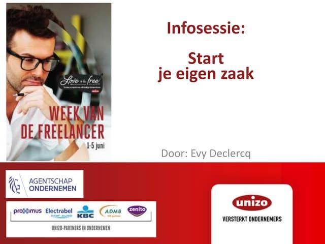 Evy Declercq - Opstartformaliteiten als freelancer
