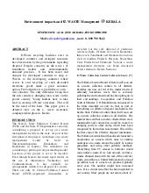 E WASTE MALAYALAM PDF