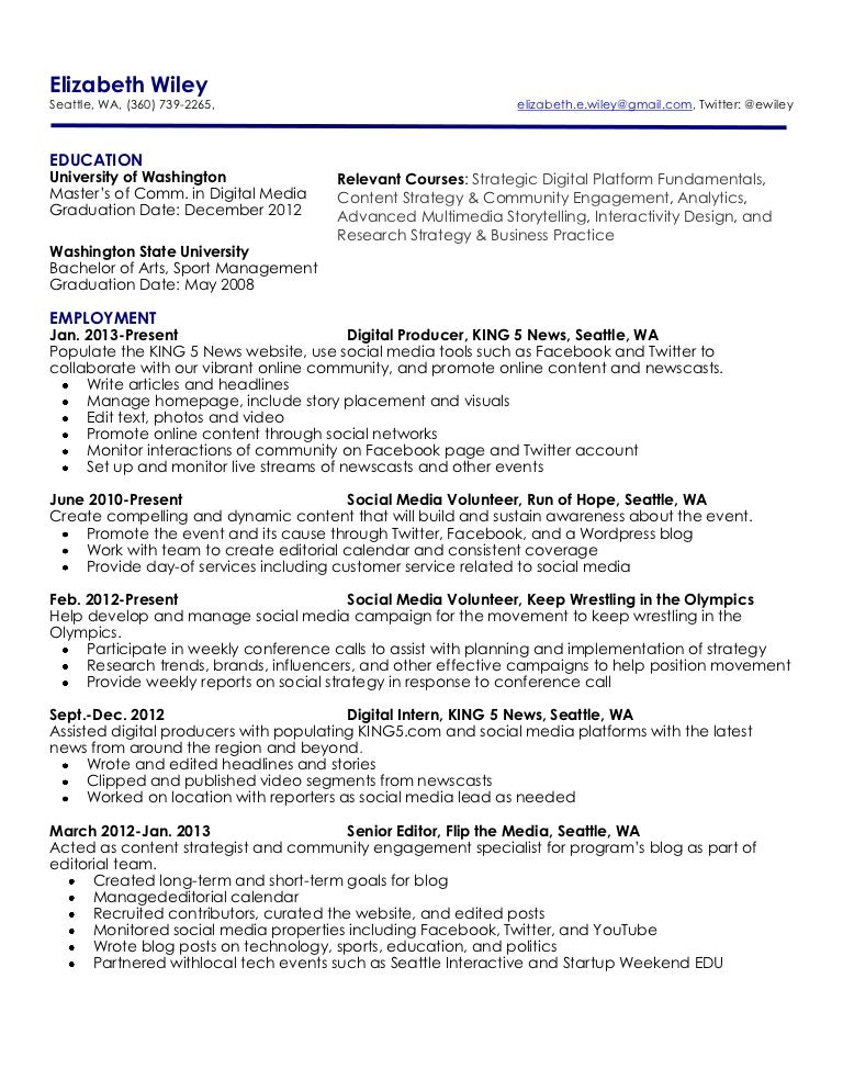 Elizabeth Wiley\'s Resume