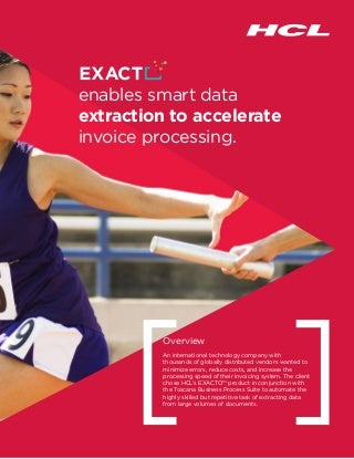 Exacto case study: enables_smart_data_extraction_to_accelerate_invoice_processing