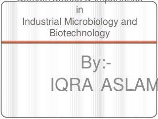 'industrial microbiology' on SlideShare