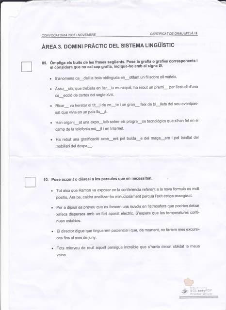 Examen jqcv novembre 2005