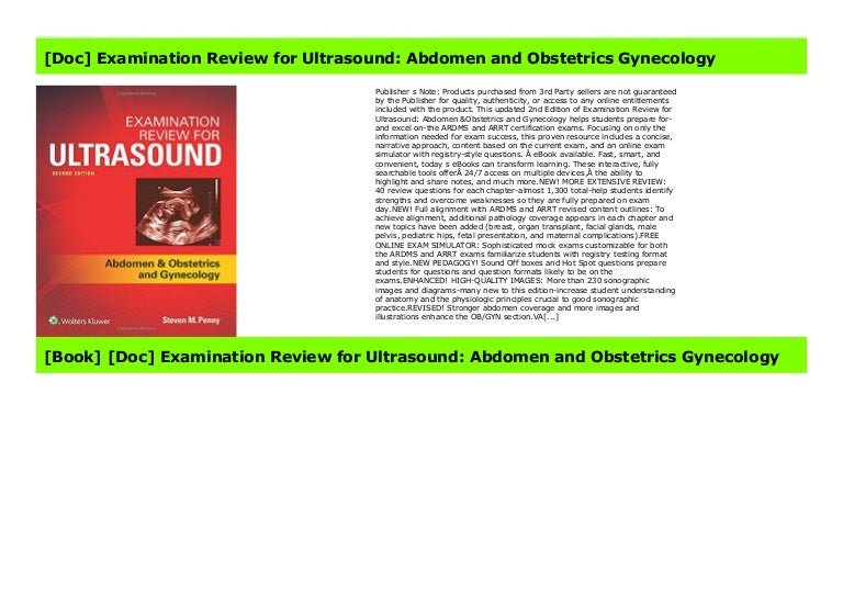 Doc  Examination Review For Ultrasound  Abdomen And