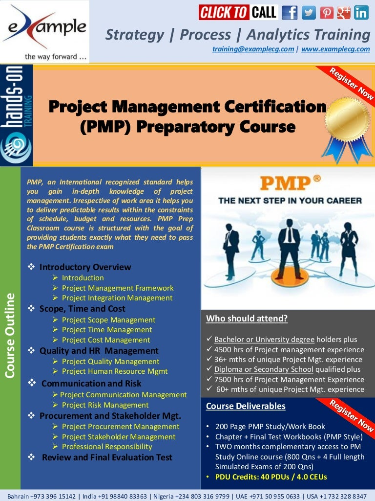Examplecg project management pmp professional pmp certification prep 1betcityfo Images