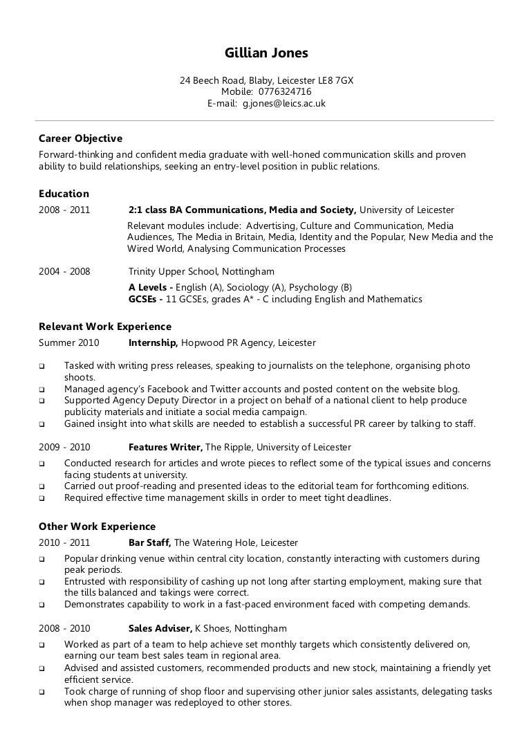 Autobiographical Essay For Graduate School Objective Resume