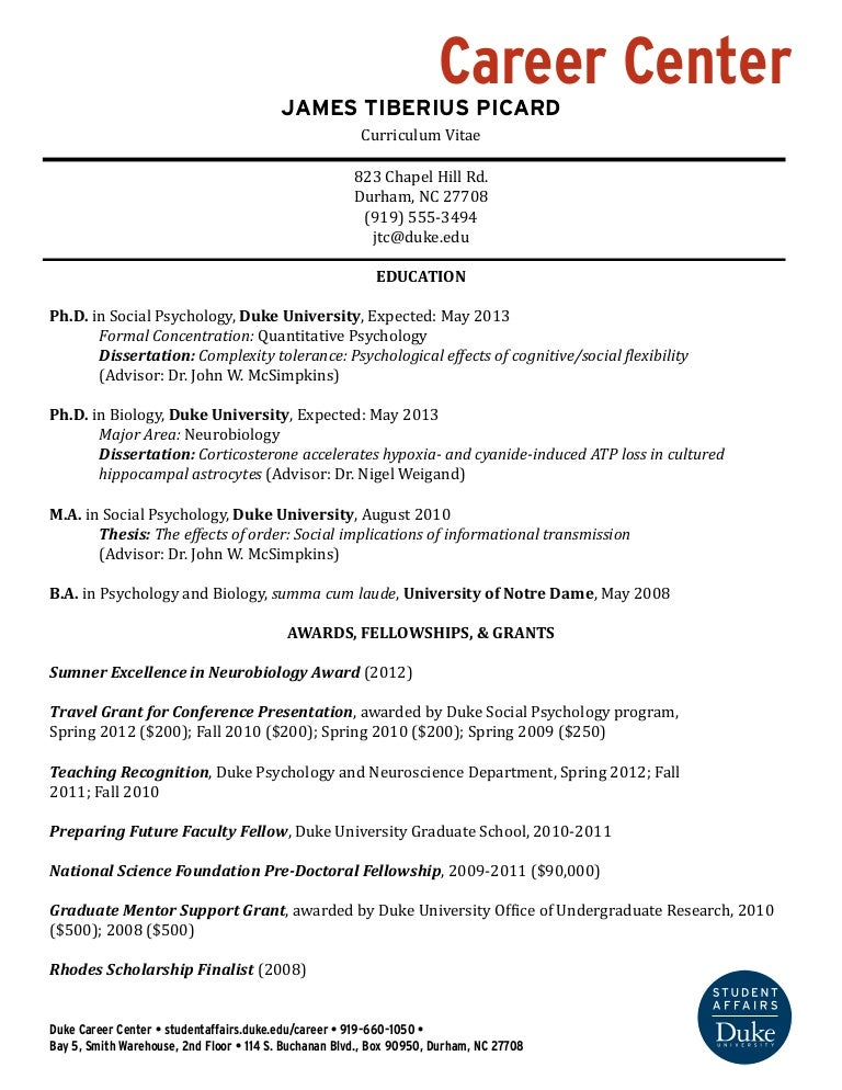 Example Of A Cv Resume. Cv
