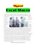 Excel Macro Benefits