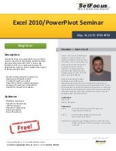 Excel 2010   Power Pivot Seminar