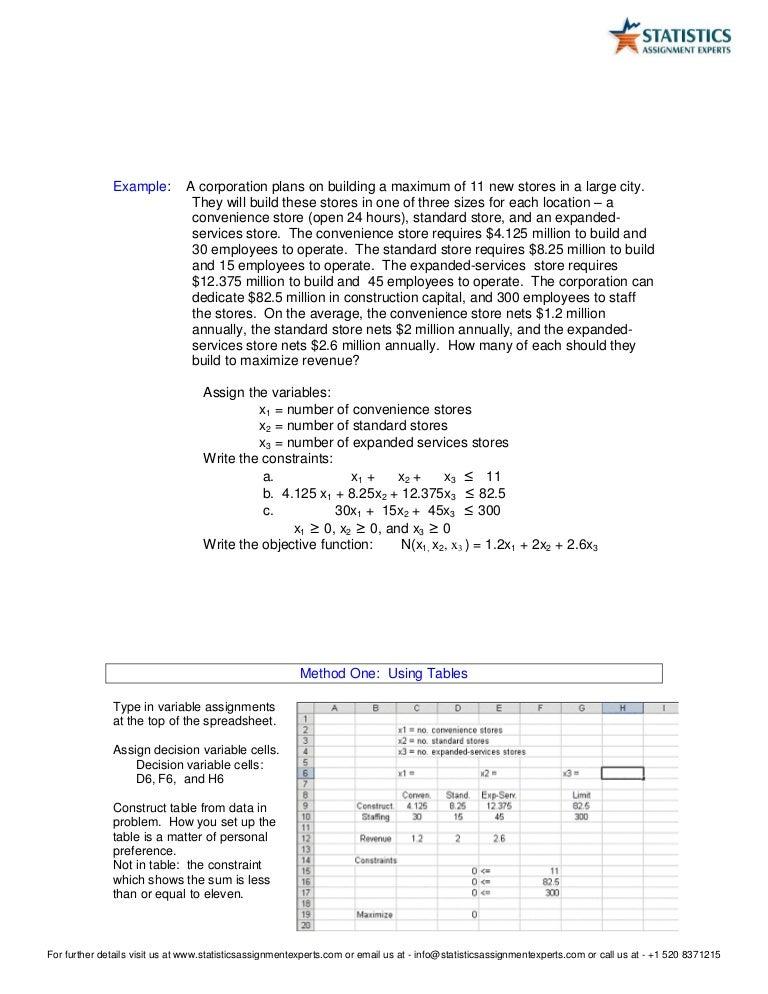Excel homework help