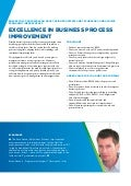 Brochure Excellence in business process improvement