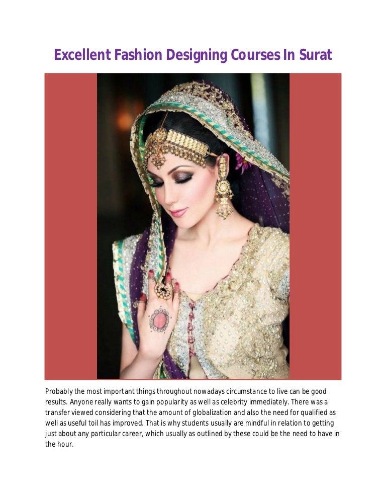 Excellent Fashion Designing Courses In Surat