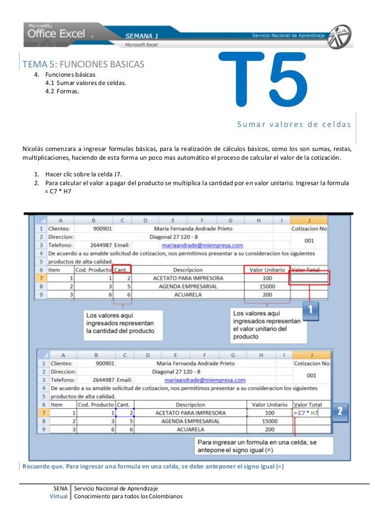 Tema 20. Fórmulas básicas