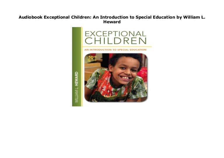 Audiobook Exceptional Children An Introduction To Special Education