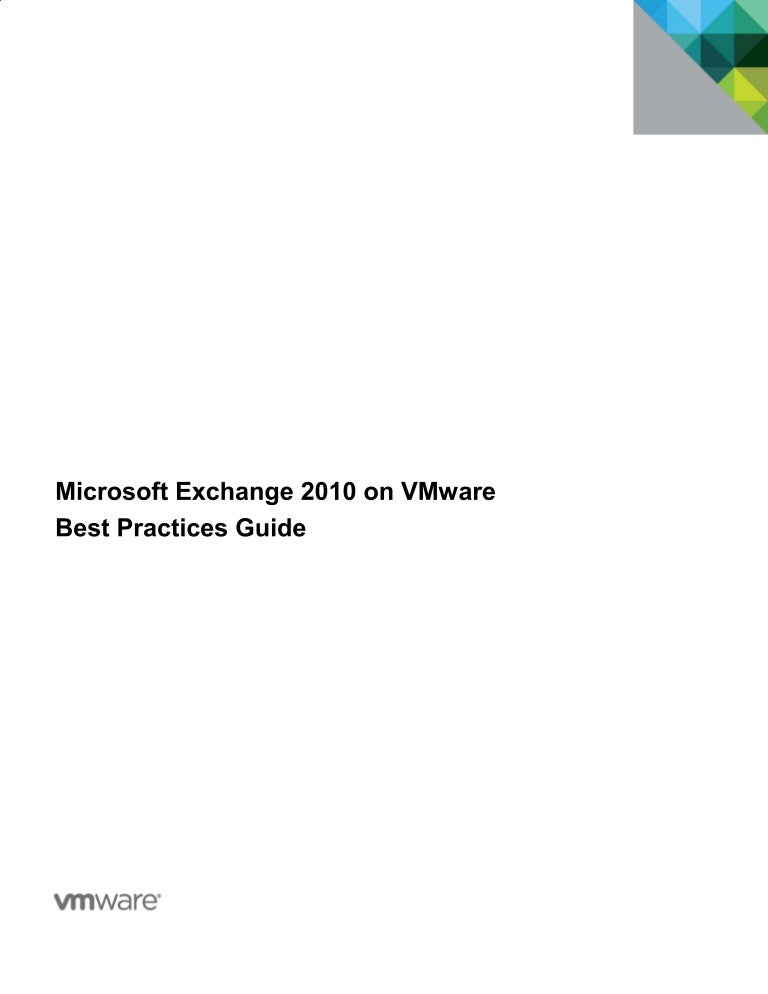 Exchange Server 2010 Best Practices Pdf