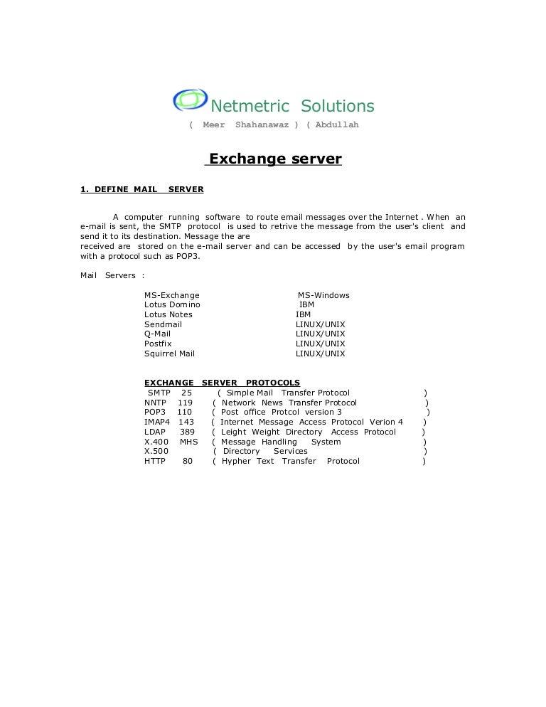 exchange server on linux