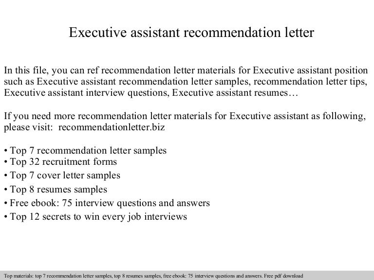 Interview Questions For Executive Assistant Position