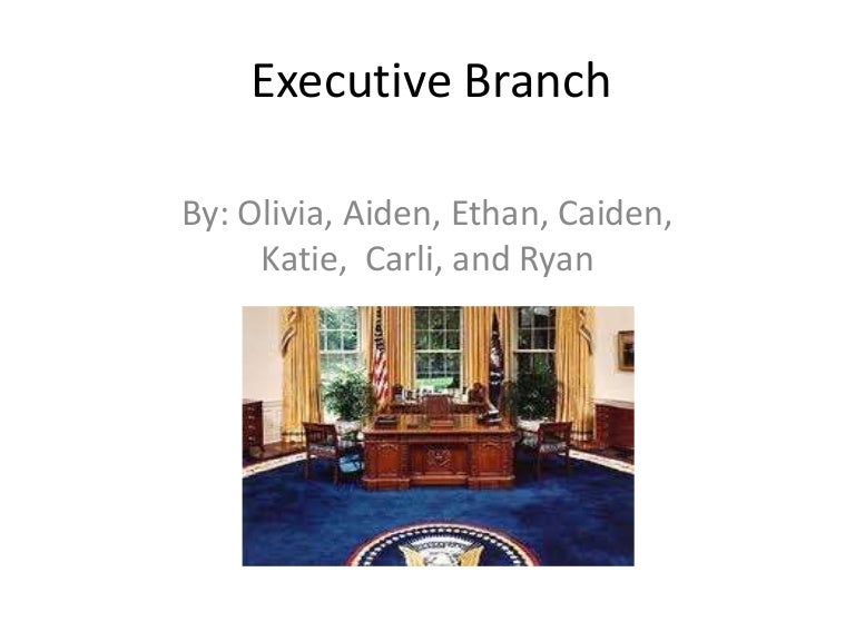 Executive Branch For Kids