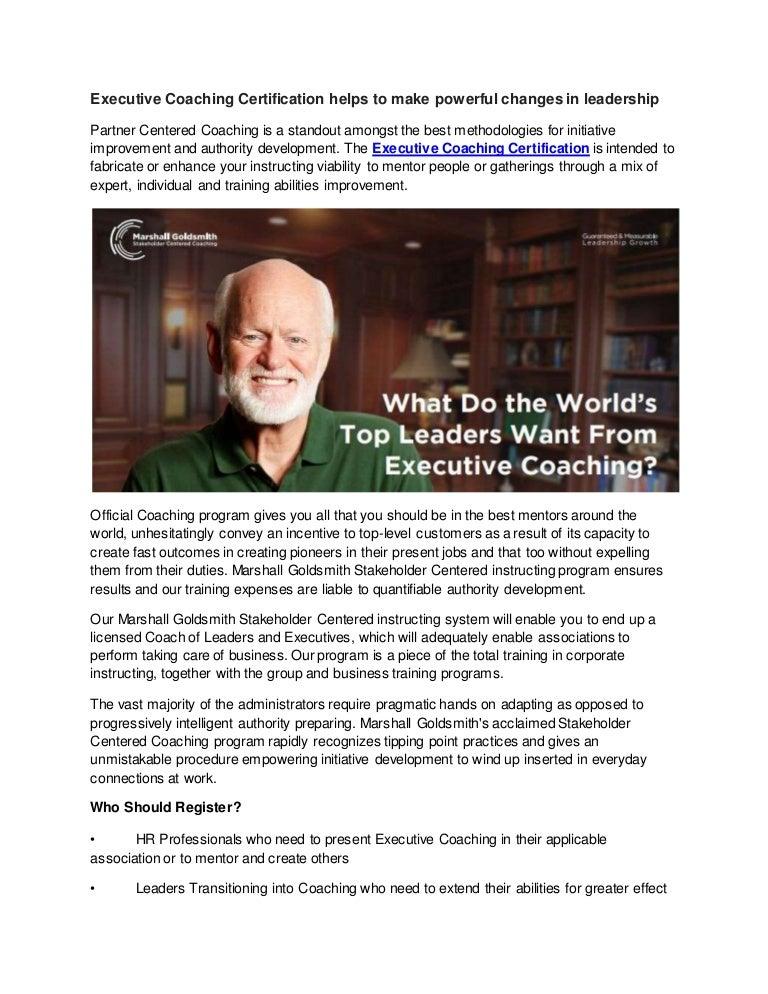 certification executive