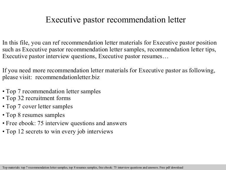 Executivepastorrecommendationletter 140826202904 phpapp02 thumbnail 4gcb1409084970 altavistaventures Gallery