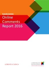 Executive summary - Online Comments Report BEO 2016