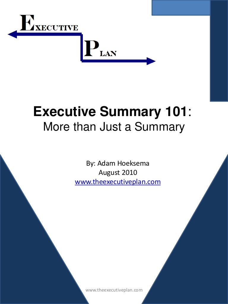 SlideShare  Executive Summary Outline Examples Format