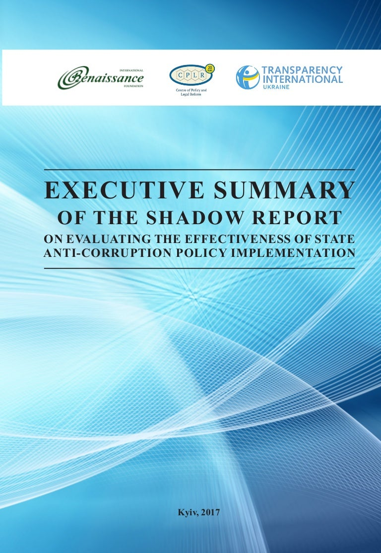 Executive Summary Of The Shadow Report On Evaluating The Effectivenes
