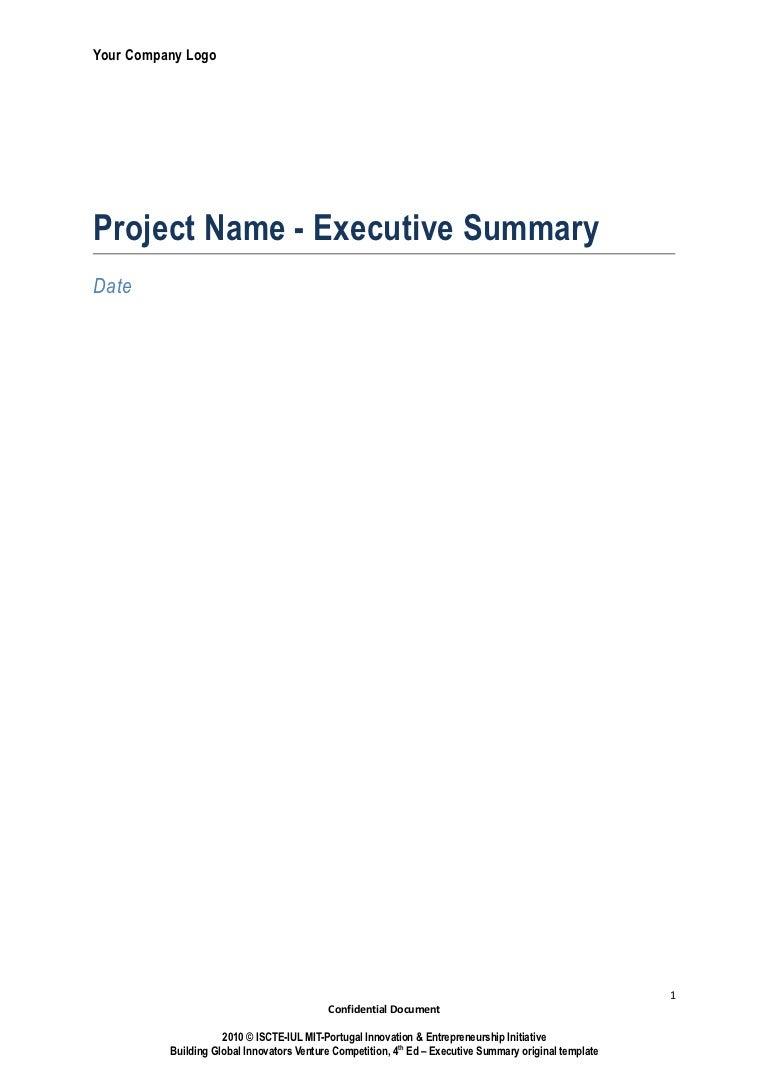 executive briefing sample