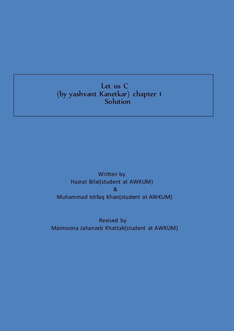 Chapter 1 completedlet us c solutions llc