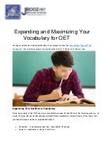 Expanding and Maximizing Your Vocabulary for OET