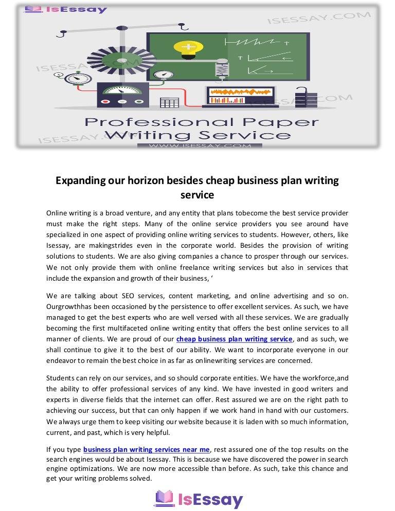 Expanding Our Horizon Besides Cheap Business Plan Writing