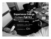 Experience Design + The Digital Agency (Phizzpop version)