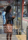 Ericsson ConsumerLab: Experience shapes mobile customer loyalty