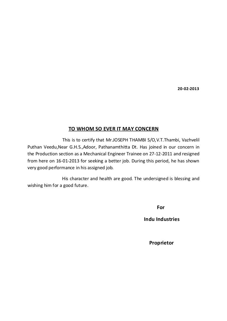 To Whom It May Concern Resignation Letter from cdn.slidesharecdn.com