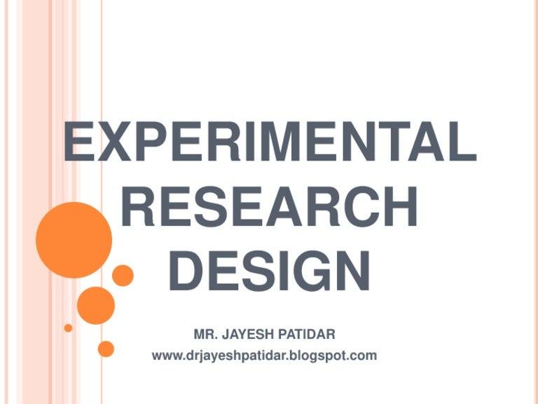Experimental research design