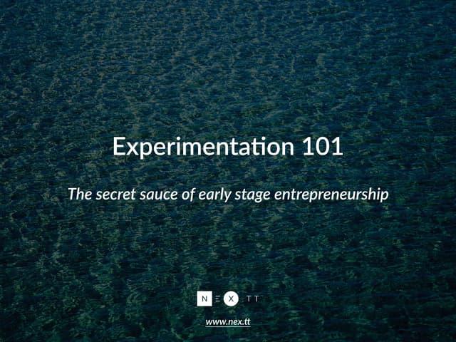 Experimentation 101