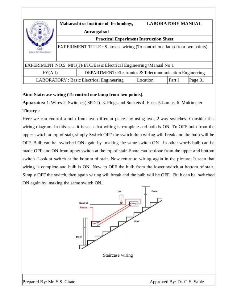 Staircase wiring theory wiring diagram experiment no 5 go down wiring staircase wiring theory keyboard keysfo Gallery