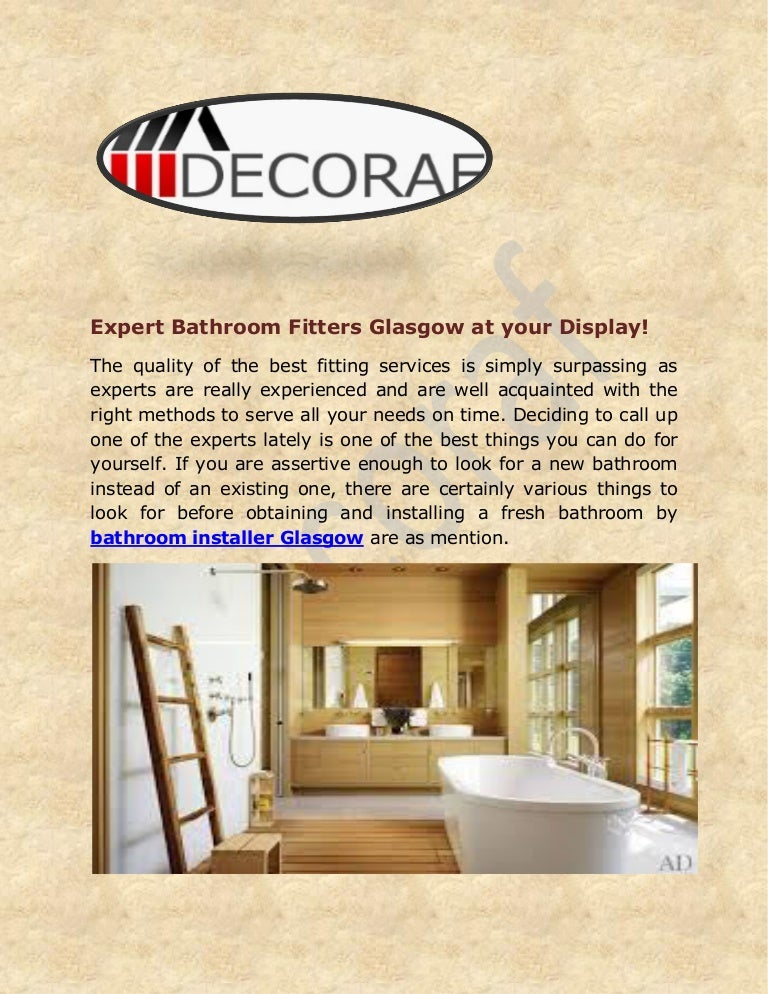 Bathroom Fitters Glasgow >> Expert Bathroom Fitters Glasgow At Your Display