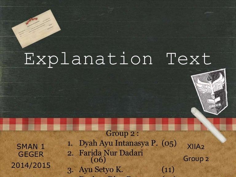 Explanation Text Dan Contohnya