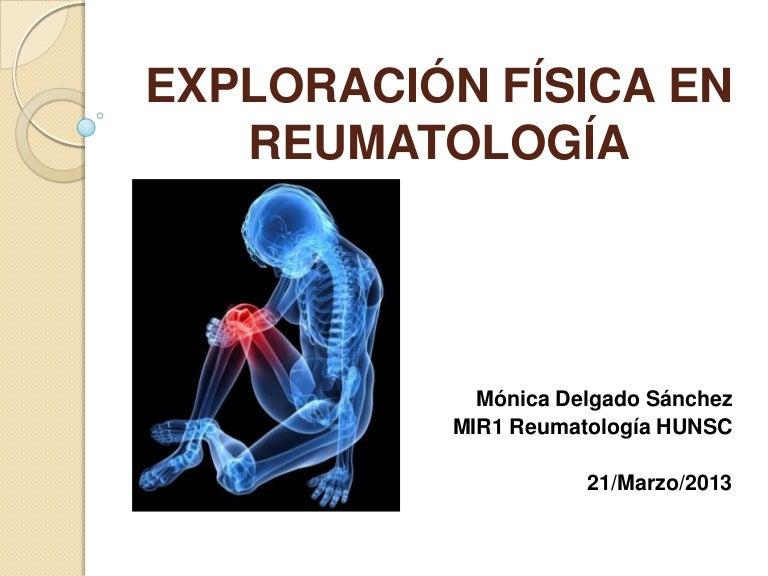 Exploración física en reumatología