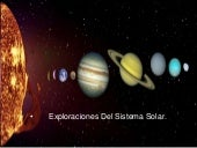 Exploracion sistema solar