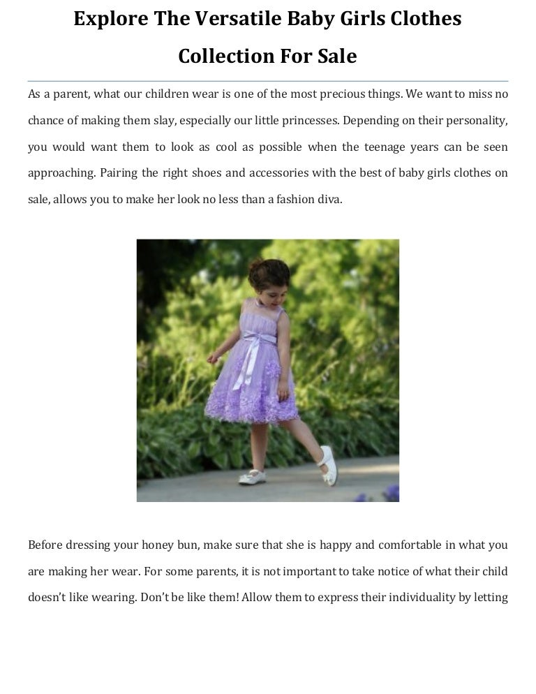 versatile baby girls clothes collection