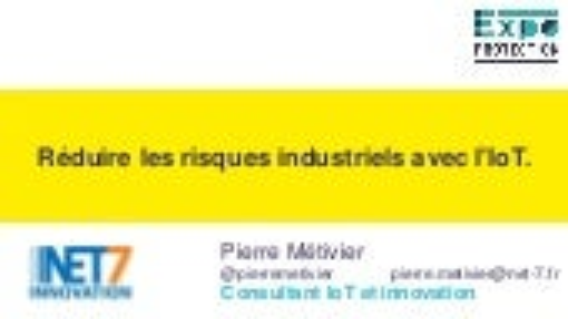 IOT et risques industriels
