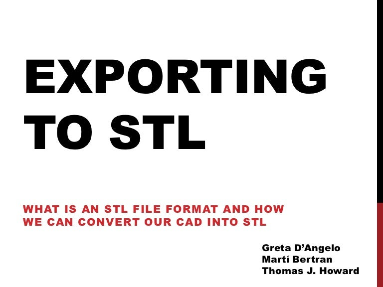 Exporting to stl