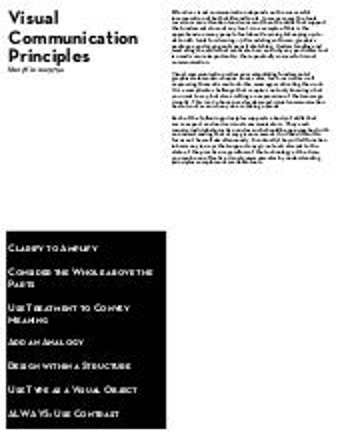 Visual Communication Design Principles